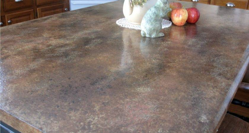 Kammy Korner Painted Faux Granite Counter Tops