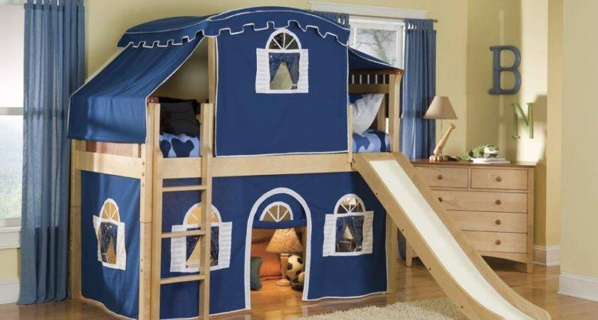 Kids Bunk Beds Stairs Desk Optional Tent Tower