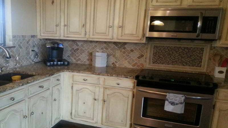 Kitchen Best Distressed Cabinets