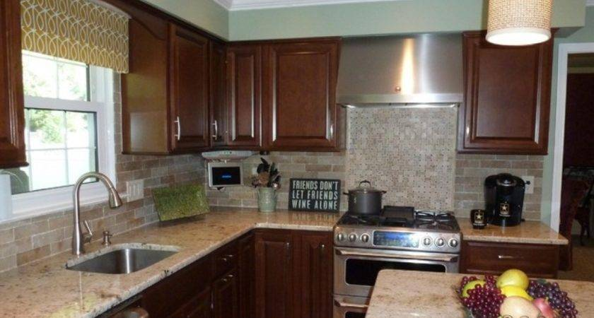 Kitchen Brick Backsplash Faux Veneer Pic