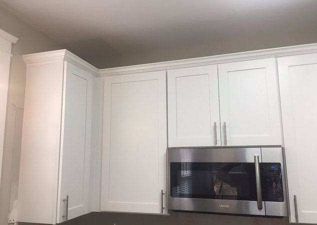 Kitchen Cabinet Crown Molding Make Them Fancy Hometalk