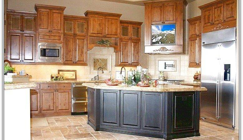 Kitchen Cabinet Oak Honey Cabinets Appealing