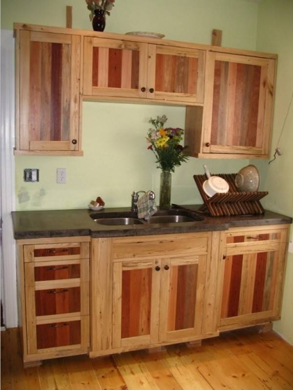 Kitchen Cabinets Made Out Pallets - Gabe & Jenny Homes