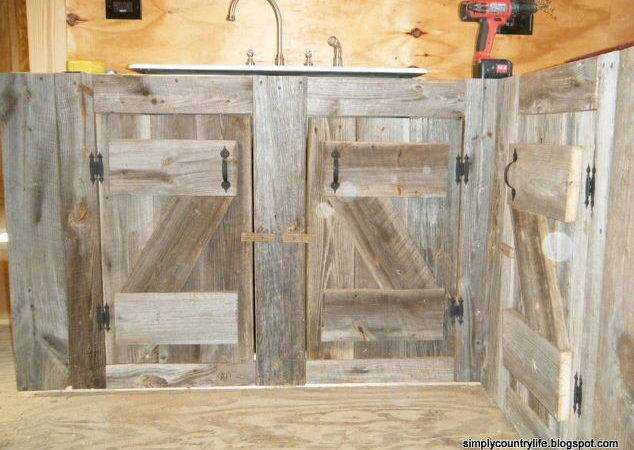 Kitchen Cabinets Made Reclaimed Salvaged Barnwood
