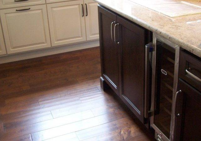 Kitchen Cabinets Mixing Wood Colors Contemporary
