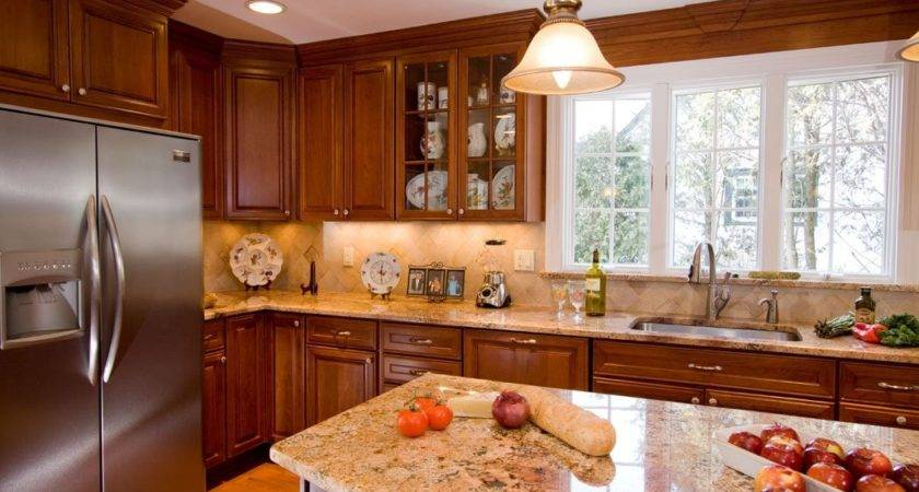 Kitchen Colors Brown Cabinets