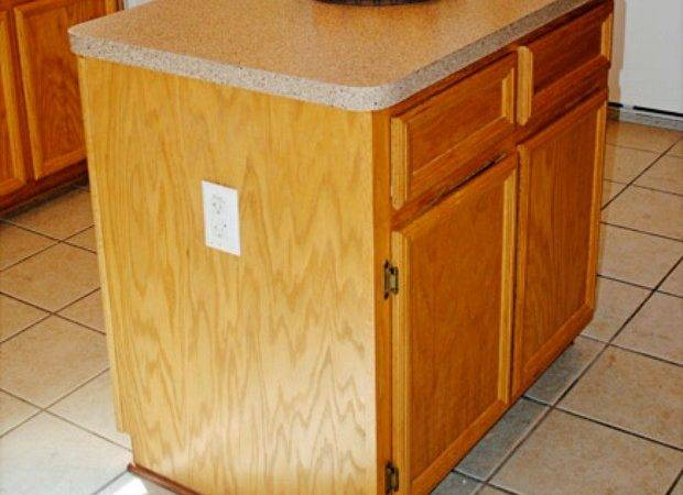 Kitchen Island Makeover Before After