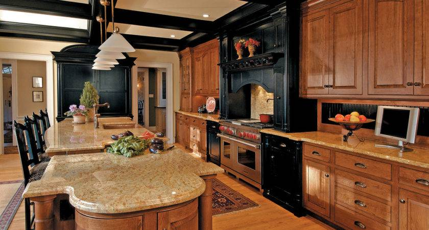 Kitchen Oak Cabinets Traditional Phoenix Dark Interior