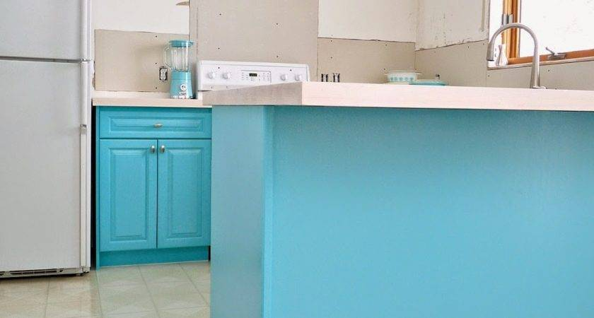 Kitchen Progress Turquoise Cabinets Check Dans