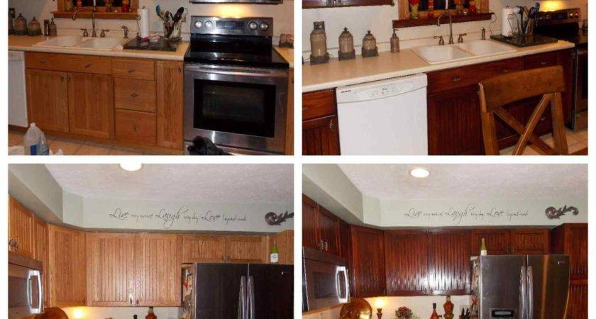 Kitchen Restained Using General Finishes Brown