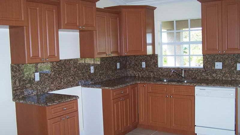 Kitchen Resurface Brown Painted Cabinets