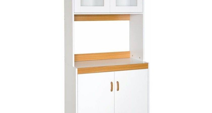 Kitchen Tall Cabinet Solid Door Below Shelf