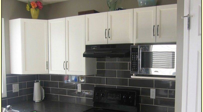 Kitchen Tile Backsplash Ideas Black Cabinets Home