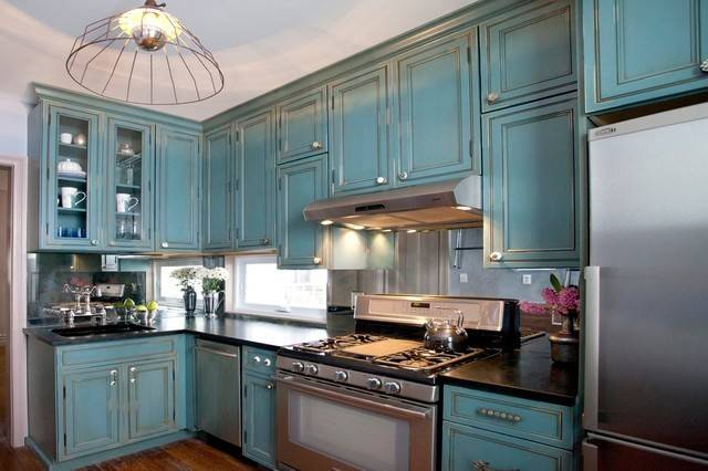 Kitchen Week Turquoise Cabinets Snazz Space