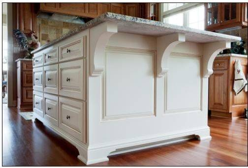 Kitchen White Accent Island Traditional
