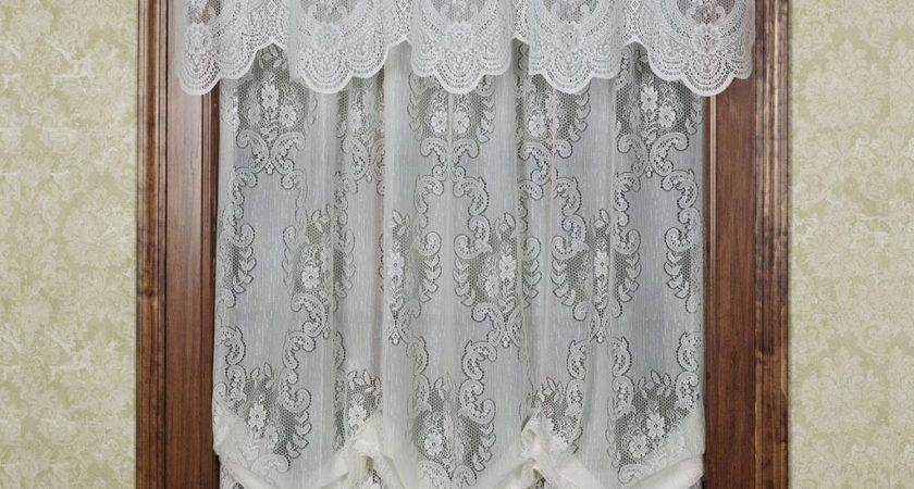 Lace Balloon Shade Curtains Window Treatments Design Ideas