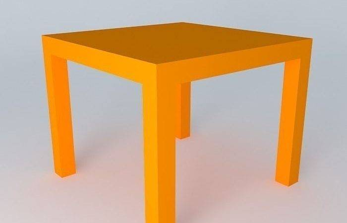 Lack Side Table Model Max Obj Fbx Stl
