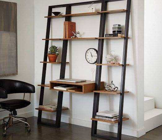 Ladder Shelf Desk Narrow Bookshelf Set West Elm