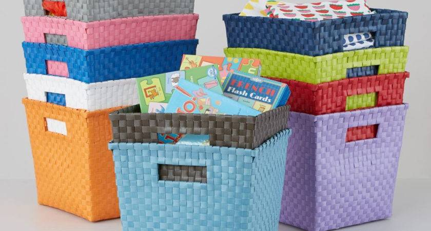 Land Nod Kids Storage Containers Canvas Cube