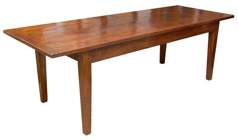 Large Foot Long English Chestnut Farm Dining Table