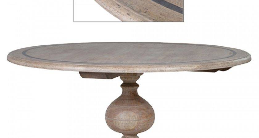 Large Grey Wash Dining Table Tables