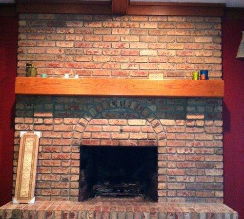 Large Red Brick Fireplace Ideas