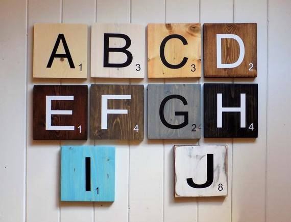 Large Scrabble Tiles Wall Art Countryhomechic