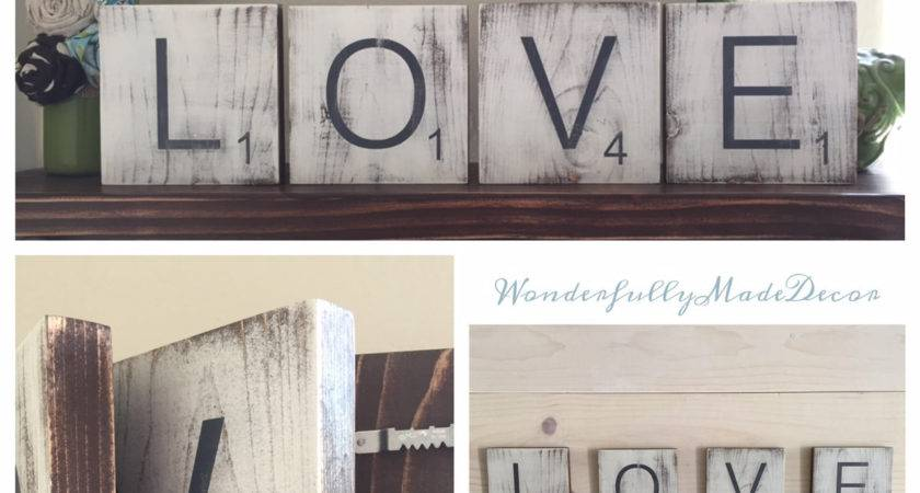 Large Scrabble Tiles Wall Home