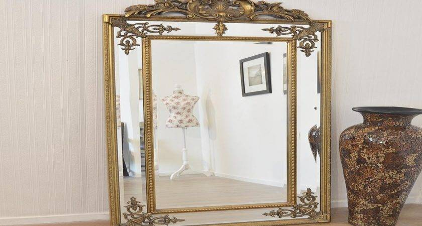 Large Standing Mirrors Ornate Gold Frames