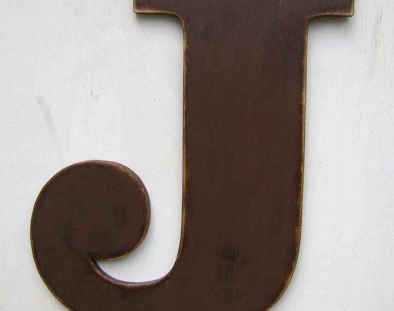 Large Wood Wall Letter Sign