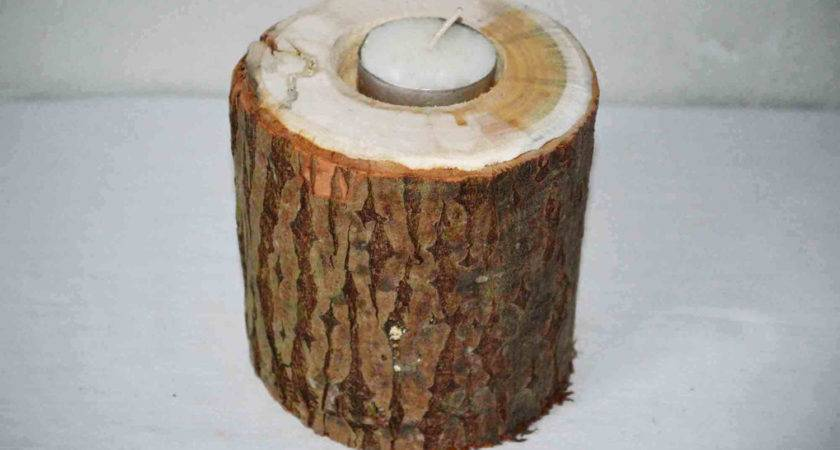 Large Wooden Candle Holder Rustic Wedding Honor