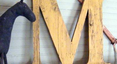 Large Wooden Letters Letter Capitol Display Wall