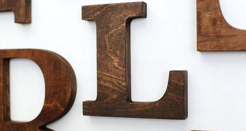 Large Wooden Letters Wall Eat Art