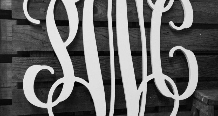 Large Wooden Monogram Extra Wall Letters