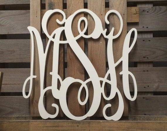 Large Wooden Monogram Wall Letters Wedding