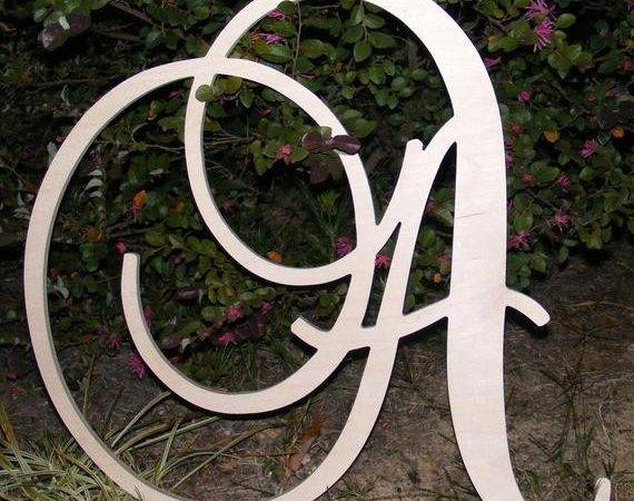 Large Wooden Wall Letters Monogram