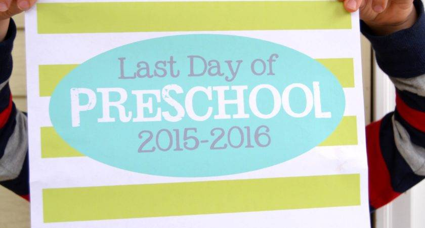 Last Day School Signs Printables Mary