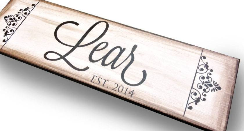 Last Name Sign Personalized Wall Decor Home