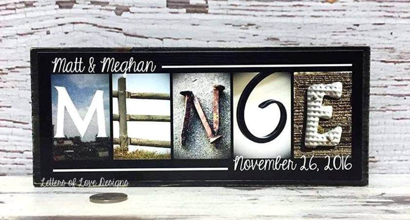 Last Name Wood Sign Wall Art Personalized Home