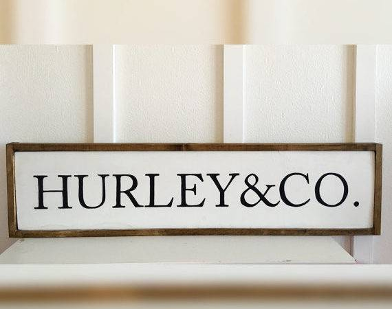 Last Name Wood Sign Wall Decor Personalized Wedding