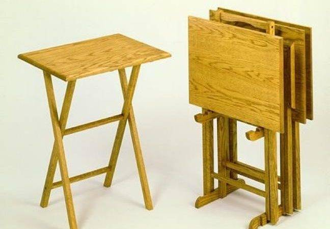 Latest Folding Wooden Tray Tables Cabinet