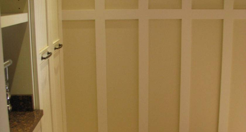 Laundry Room Tall Wainscoting Rustic