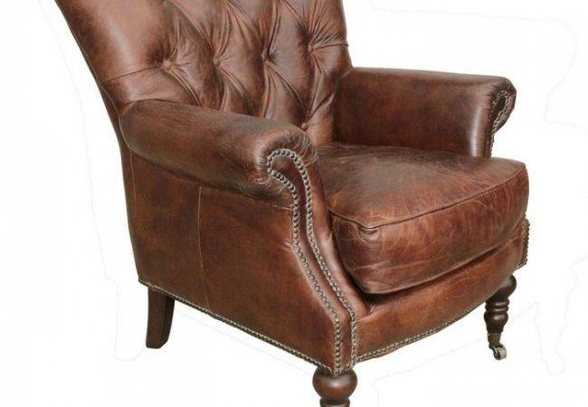 Lauren Leather Tufted Club Chair