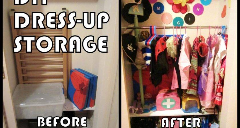 Learn Play Home Diy Dress Storage Solution