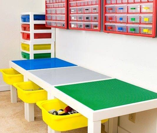 Lego Play Table Drawer Storage Ikea Hackers