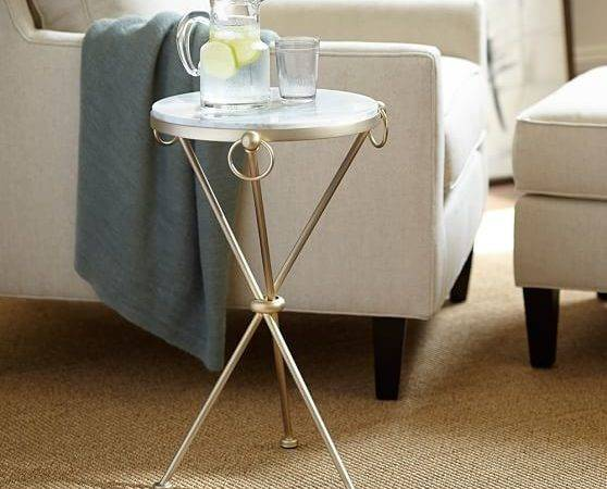 Leila Marble Top Side Table Pottery Barn