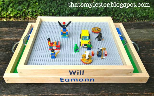 Letter Lego Tray