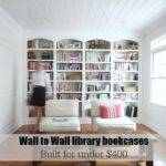 Library Wall Bookcases Plans Sawdust Girl