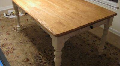 Life Love Larson New Old Kitchen Table Staining