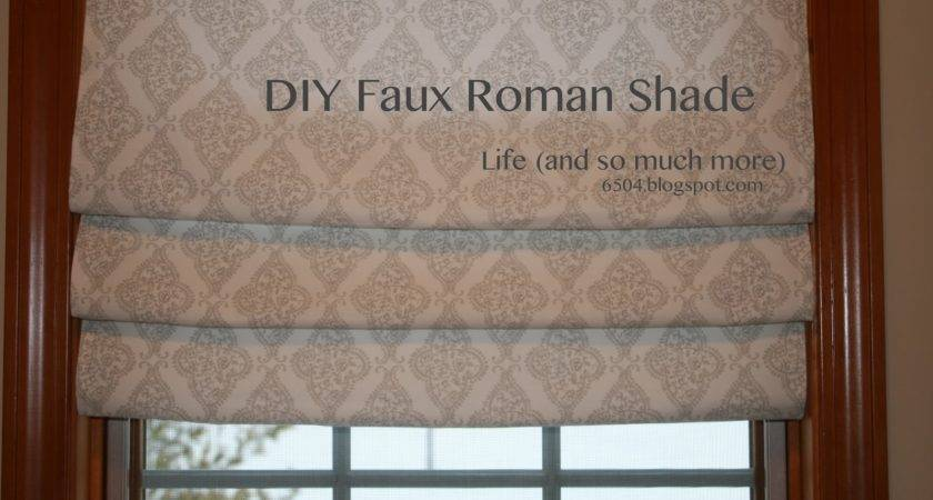 Life Much More Diy Faux Roman Shade